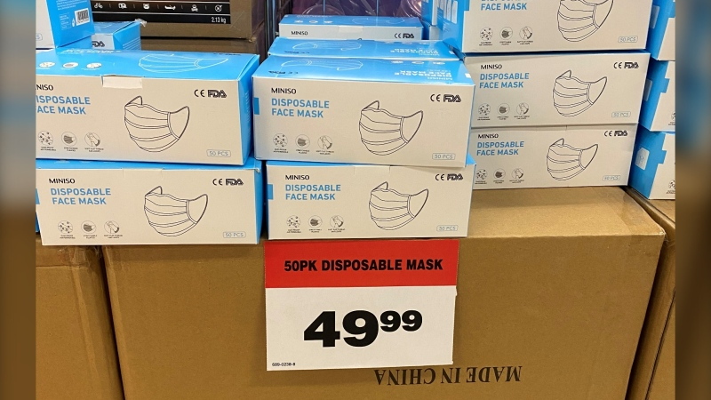 Masks for sale at a Canadian Tire store in Vancouver on Friday, April 3, 2020. (Submitted)