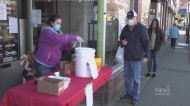 Pharmacy gives away free sanitizer
