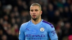 FILE - In this Tuesday, Jan. 21, 2020 file photo, Manchester City's Kyle Walker during the English Premier League soccer match between Sheffield United and Manchester City at Bramall Lane in Sheffield, England. (AP Photo/Rui Vieira, File)