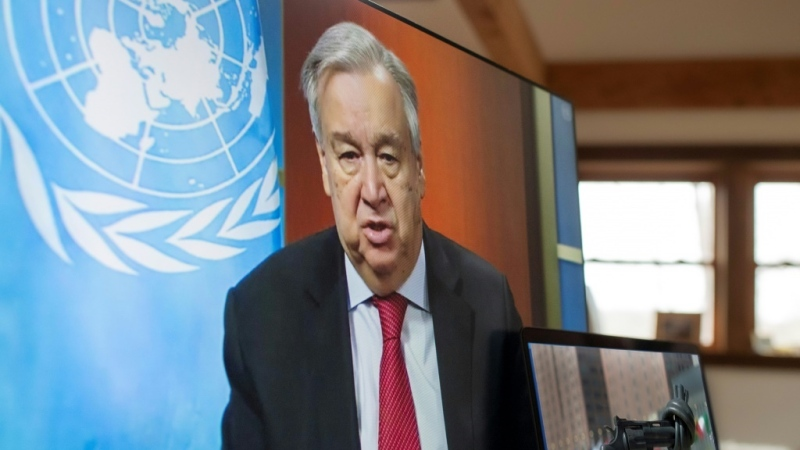 UN Secretary General Antonio Guterres wants governments to help protect women from abusers during the coronavirus lockdowns around the world. (AFP)