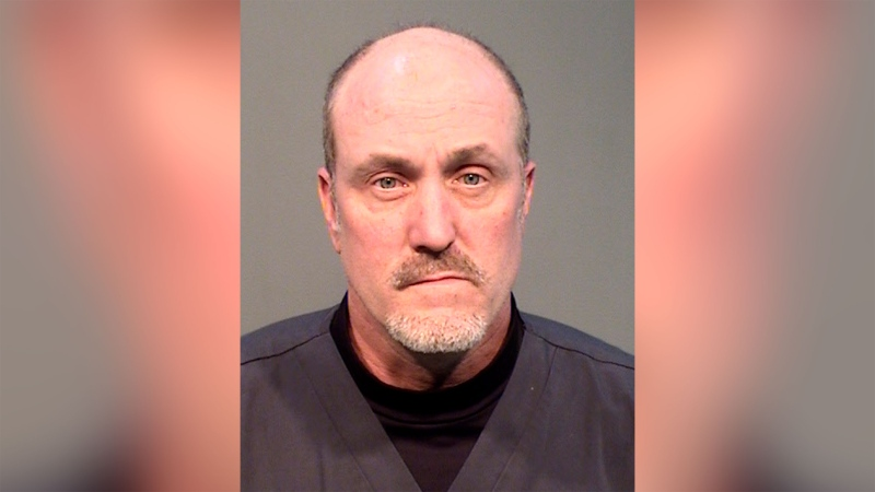 Keith Brown was arrested after being accused of stealing protective equipment and cleaning supplies, Prescott Police Department officials said. (Prescott police/AP)