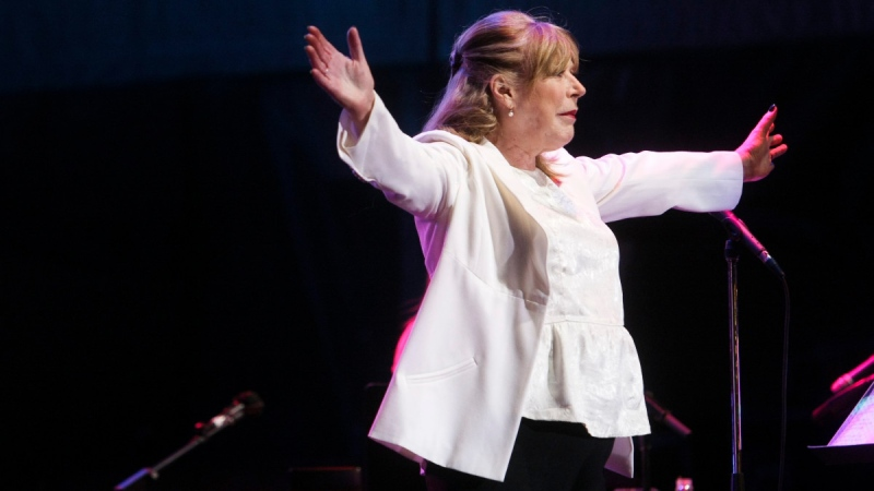 Marianne Faithfull performs at the 44th Festival d'ete de Quebec on the Parc de la Francophonie in Quebec city, on July 12, 2011.  (The Canadian Press Images PHOTO / Festival d'ete de Quebec)