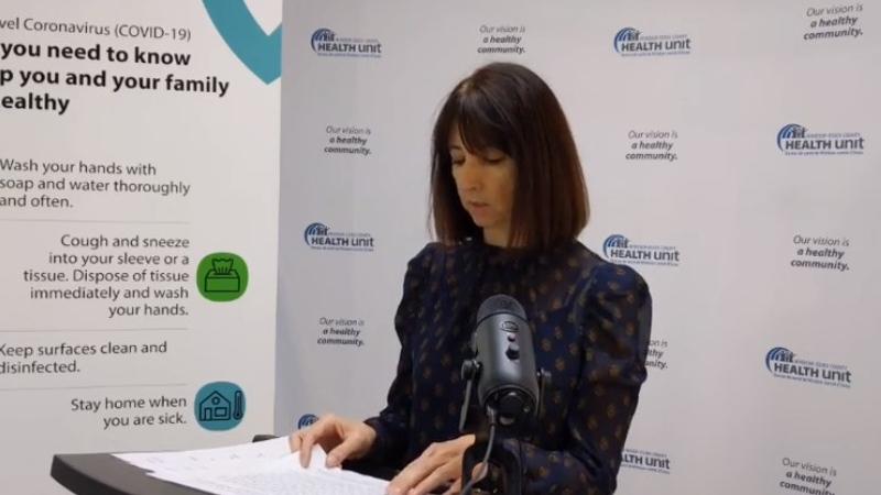 Health unit CEO Theresa Marentette