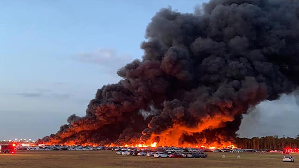 Rental car fire