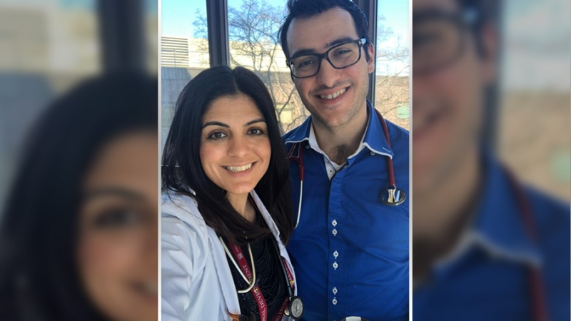 "Submit a photo: <a href=""mailto:ottawaphotos@ctv.ca"">ottawaphotos@ctv.ca</a><br> Dr. Taleen Haddad PGY5 Geriatric Medicine University of Ottawa and Dr. Tony Haddad PGY3 Internal Medicine University of Saskatchewan <br/>
