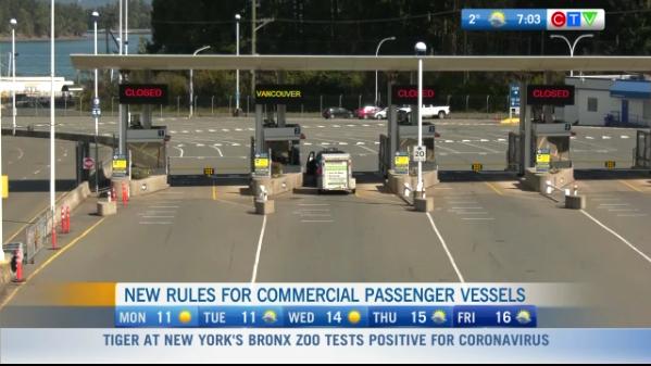 Headlines, New ules BC Ferries