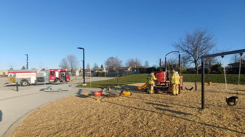 Fire at London, Ont. playground
