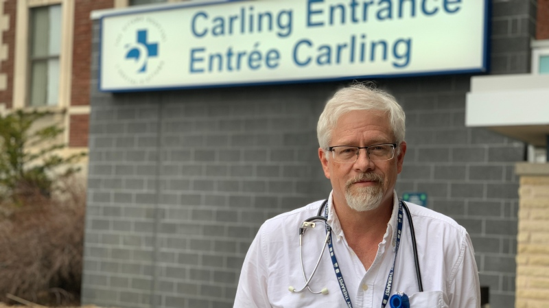 Respiratory Therapist Dave Swift discusses the COVID-19 situation at the Ottawa Hospital Civic Campus