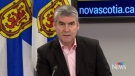 Nova Scotia Premier Stephen McNeil provides an update on COVID-19 during a news conference in Halifax on April 6, 2020.