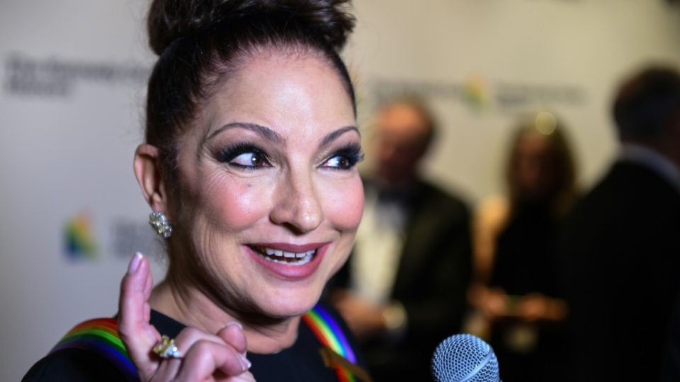 Gloria Estefan (pictured 2018) has shared a video titled 'Put On Your Mask' -- set to the tune of her hit song 'Get On Your Feet' -- urging listeners to wear a cloth mask in public to protect themselves from spreading or contracting the coronavirus. (AFP)