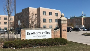 11 people have tested positive for COVID-19 at the Bradford Valley Care Community Centre (April 6, 2020, CTV Barrie Mike Arsalides)