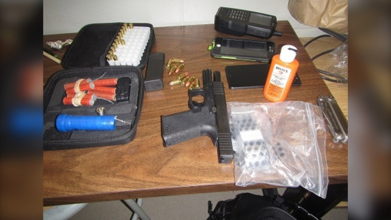 The Sooke RCMP have seized a number of dangerous items this month, including a loaded hand gun and improvised explosive: (Sooke RCMP)