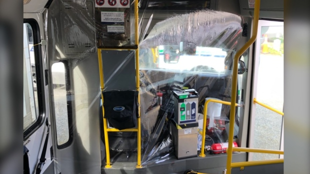 BC Transit installs shields on some buses, extends free fares until May