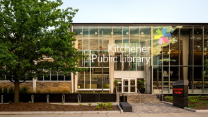 A photo of the Kitchener Public Library from their website.