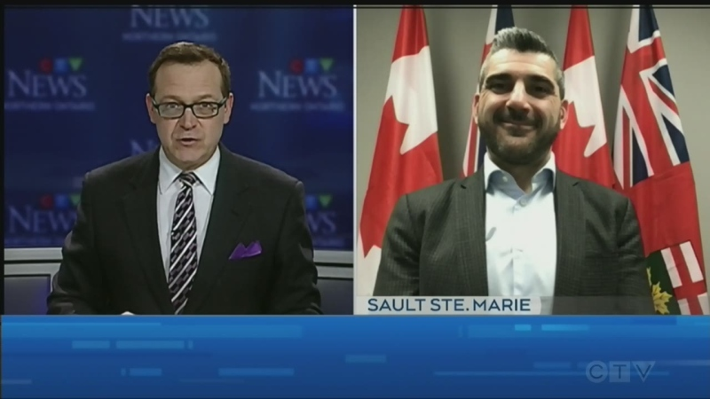 Watch Tony Ryma's interview with Minister of Colleges and Universities and Sault Ste. Marie MPP Ross Romano about supports for post-secondary students. Apr. 6/20 (CTV Northern Ontario)