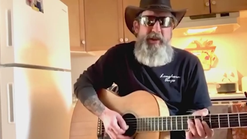 As a thank you to all the front-line workers, Sudbury entertainer Johnny Williams performs Ain't No Sunshine by Bill Withers. (CTV Northern Ontario)