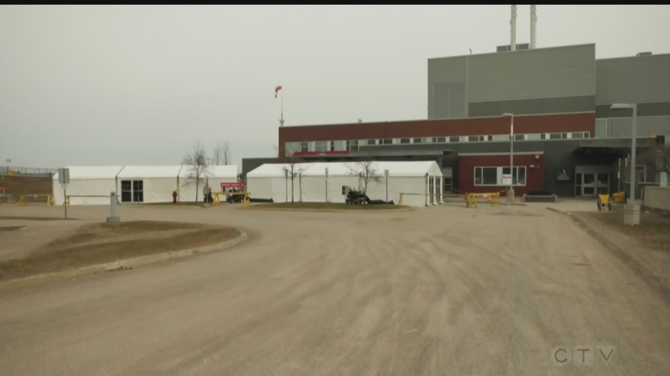 Sault Area Hospital COVID-19 Screening tents