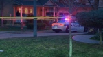 The scene of a fatal police-involved shooting in Brampton is pictured Monday April 6, 2020.