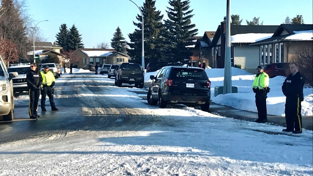 High security in Fort Sask. as neighbours protest bail release for accused baby killer