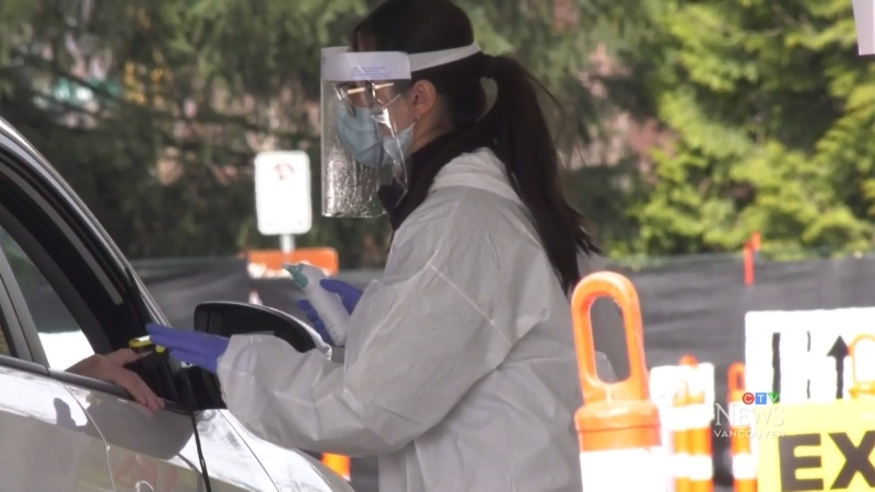 Burnaby sets up drive-thru COVID testing