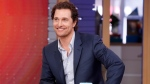 Matthew McConaughey hosted virtual bingo for seniors at The Enclave at Round Rock Senior Living, an independent and assisted living facility outside of Austin. (Lou Rocco/Walt Disney Television/Getty Images)