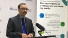 Windsor-Essex medical officer of health Dr. Wajid Ahmed in Windsor, Ont. on Tuesday, April 7, 2020. (Bob Bellacicco / CTV Windsor)