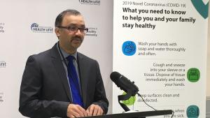 Windsor-Essex medical officer of health Dr. Wajid Ahmed in Windsor, Ont. on Tuesday, April 7, 2020. (Bob Bellacicco / CTV Windsor)