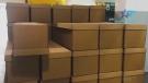 Ecuador uses cardboard boxes for the dead