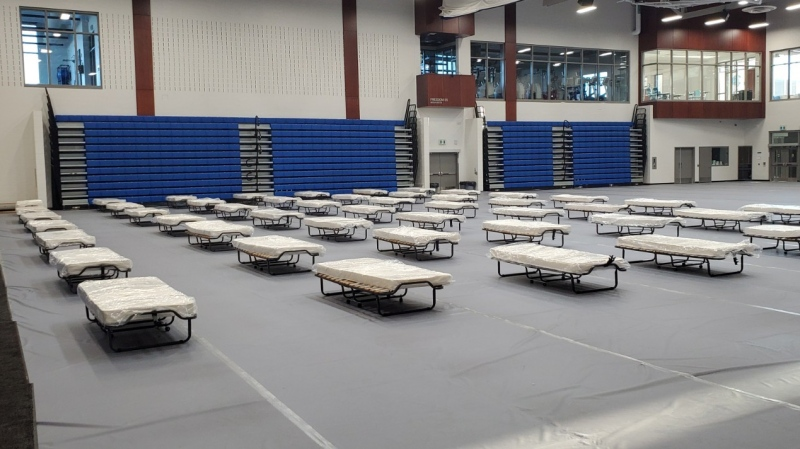 Lambton College field hospital (Supplied/Bluewater Health)