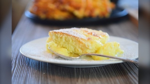 Supplied photo of Lemon Pudding Cake.