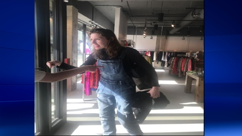 London clothing store robbery and assault suspect on March 27, 2020. (Supplied)