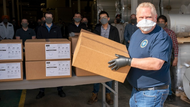 Premier Auto Group >> Doug Ford tours Vaughan factory making respiratory masks | CTV News