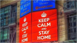 Mirvish Productions wants to make you famous when you write an inspirational & instructive slogan to help keep Torontonians safe, calm & healthy. (Mirvish Productions)