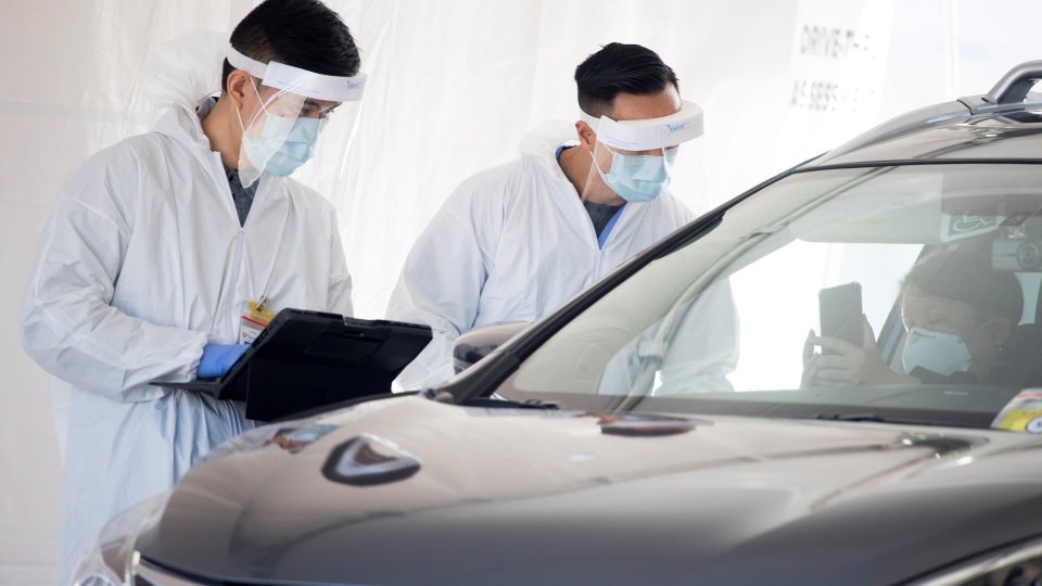 Drive-thru COVID test