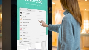 A customer uses digital mapping technology designed by Waterloo, Ont.-based technology startup MappedIn. (THE CANADIAN PRESS/ MappedIn)