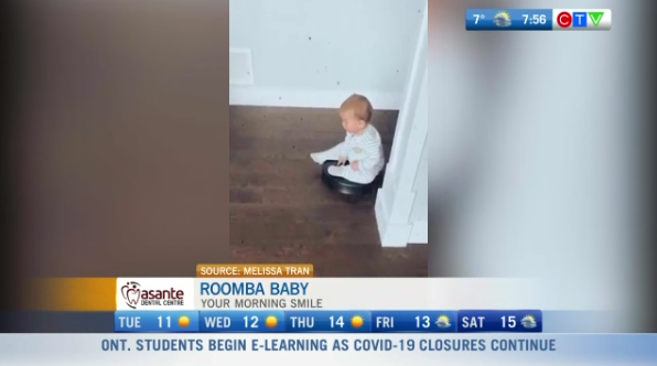 Roomba baby, funny video