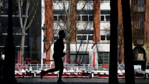 Daytime jogging in Paris will no longer be allowed as coronavirus deaths rise. (AFP)