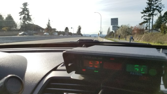 The Saanich Police Department is asking motorists to continue driving safely following a recent spike in speeders during the COVID-19 pandemic: (Saanich Police / Twitter)