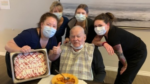 Art Paleczny seen on his 91st birthday on April 3, 2020. He died on April 7. (Courtesy: Paleczny family)