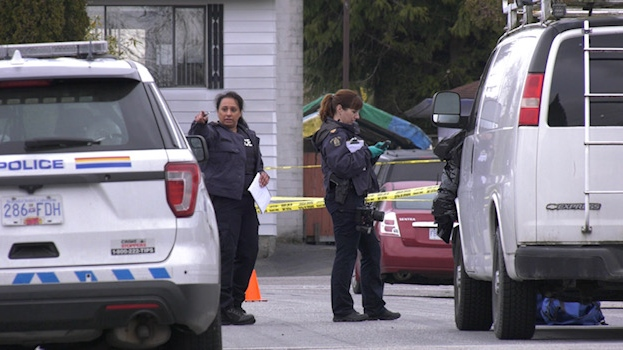 A man has died following a shooting in Surrey early Tuesday, April 7, 2020.
