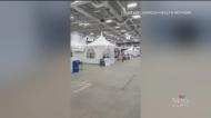 Testing centre set up at Moncton Coliseum