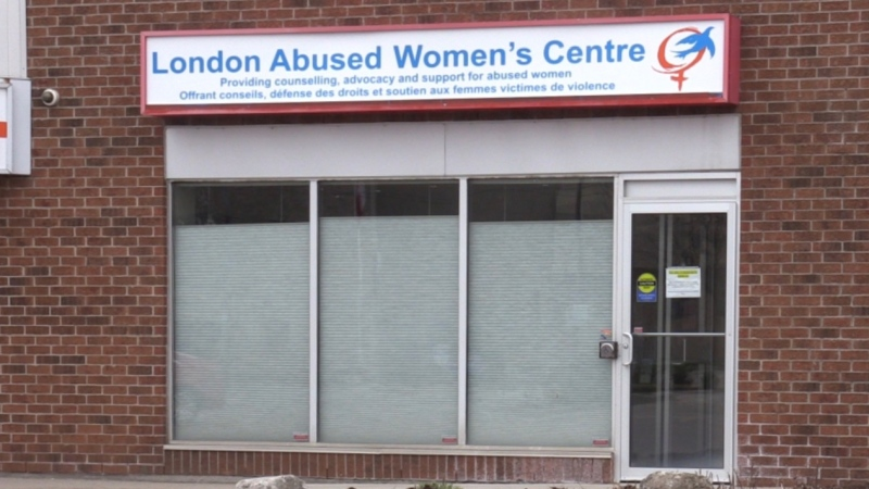 The London Abused Women's Center in London, Ont. is seen on Tuesday, April 7, 2020. (Celine Zadorsky / CTV London)