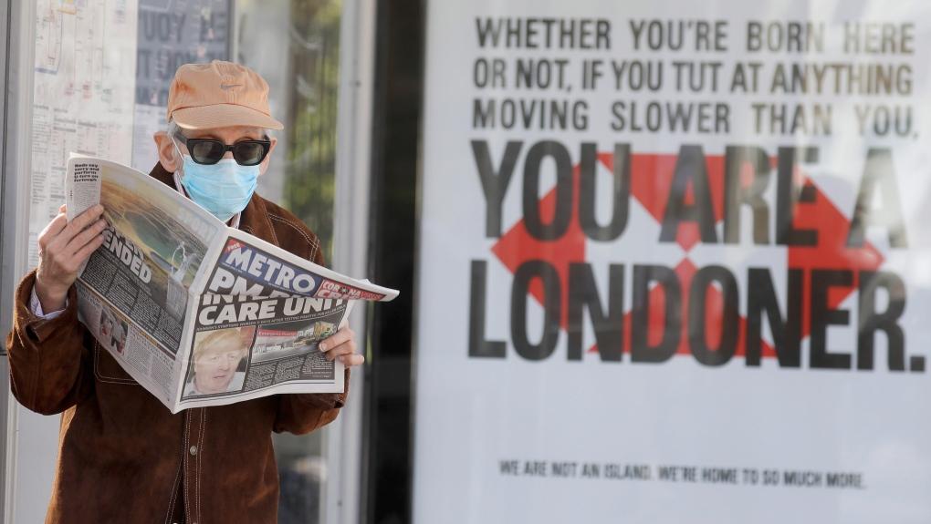 Man wearing mask in London, U.K.