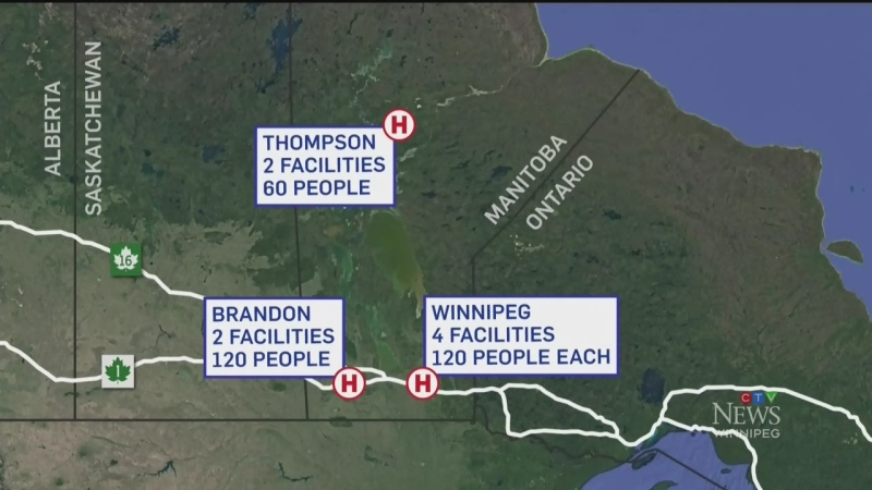 Province planning for temporary hospitals