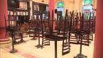 An empty restaurant dining room, closed due to COVID-19. (CTV News Edmonton)