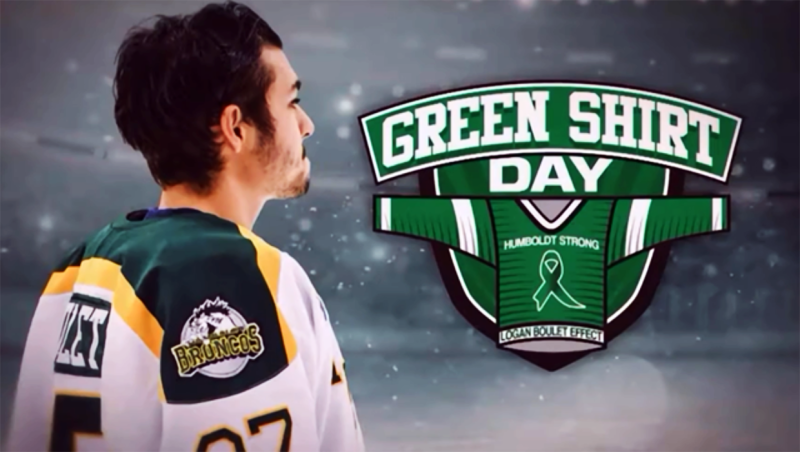 Green Shirt Day pays tribute to the victims and families of the Humboldt Broncos bus crash, by inspiring others to register as organ donors in honour of the late Logan Boulet