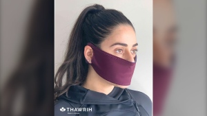 Ottawa-based start-up Thawrih shifted production to face masks to provide people with a layer of protection during the COVID-19 pandemic (Photo courtesy: Thawrih)