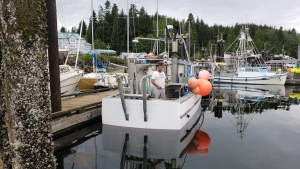 Doug Kostering on his fishing boat.