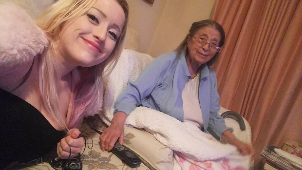 Giordana Humphries, also known as Bella Magic, seen with her 97-year-old grandmother host the online show Kitchen Cabaret.