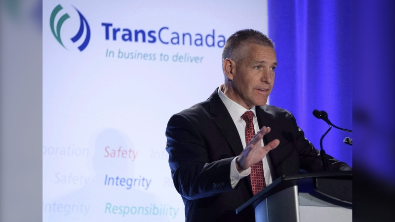 TransCanada Corp. president and CEO Russ Girling addresses the company's annual meeting in Calgary, Friday, April 27, 2018. The CEO of TC Energy Corp. says it is developing a plan to guard against the spread of the COVID-19 virus as it moves ahead with site preparation and planning for the US$8-billion Keystone XL Pipeline project. THE CANADIAN PRESS/Jeff McIntosh